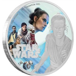 Niue 2 dollars 2019 Star Wars - The Rise Of Skywalker - 1) Rey™ - 1 Oz. silver coin