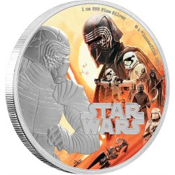 Niue 2 dollars 2019 Star Wars - The Rise Of Skywalker - 2) Kylo Ren™ - 1 Oz. silver coin