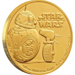 Niue 25 dollars 2019 Star Wars - The Rise Of Skywalker - 3) BB-8 & D-O™ - 1/4 Oz. gold coin