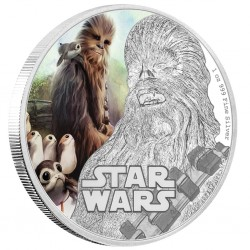Niue 2 dollar 2017 Star Wars - The Last Jedi - 2) Chewbacca™ - 1 Oz. silver coin