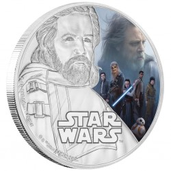 Niue 2 dollar 2017 Star Wars - The Last Jedi - 1) Luke Skywalker™ - 1 Oz. silver coin