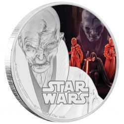 Niue 2 dollar 2017 Star Wars - The Last Jedi - 3) Supreme Leader Snoke™ - 1 Oz. silver coin