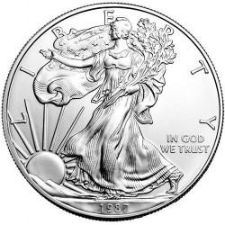 US American Eagle Silver Dollar 1987 UNC