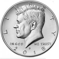 US Kennedy Half Dollar 2018 - D