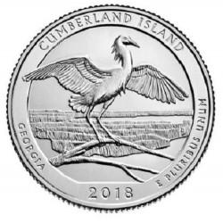 US America the Beautiful Quarter 2018 - 44 Cumberland Island (Georgia) D