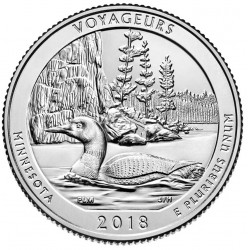 US America the Beautiful Quarter 2018 - 43 Voyageurs National Park (Minnesota) D
