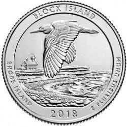 US America the Beautiful Quarter 2018 - 45 Block Island (Rhode Island) D