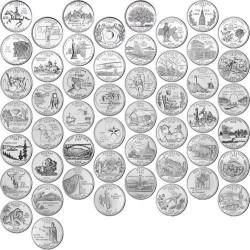 US State Quarter 1999 - 2008 D - complete set 50 coins
