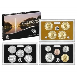 United States Mint Silver Proof coinset 2015 S