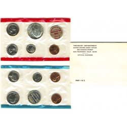United States Mint UNC coinset 1969 P, D and S