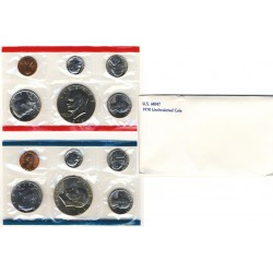 United States Mint UNC coinset 1978 P and D