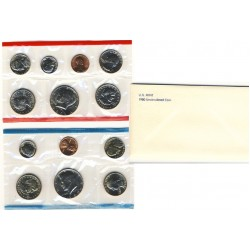 United States Mint UNC coinset 1980 P, D and S
