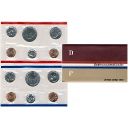 United States Mint UNC coinset 1984 P and D