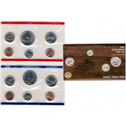 United States Mint UNC coinset 1985 P and D