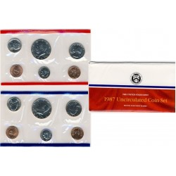 United States Mint UNC coinset 1987 P and D