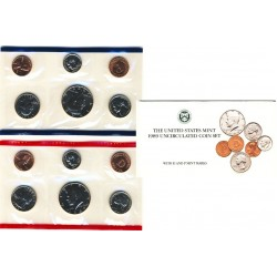 United States Mint UNC coinset 1989 P and D