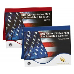 United States Mint UNC coinset 2015 P and D