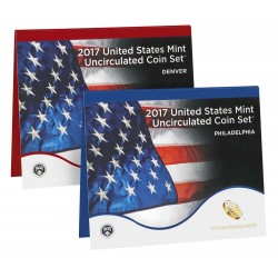 United States Mint UNC coinset 2017 P and D