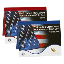 United States Mint UNC coinset 2016 P and D