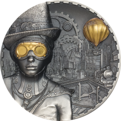 Cook Islands 20 dollars 2020 STEAMPUNK - 3 oz silver coin