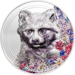 2020 RACOON DOG Woodland Spirits - Mongolia 500 Togrog 2020 1 oz silver coin