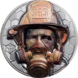 Cook Islands 20 dollars 2021 FIREFIGHTER Real Heroes - 3 oz silver coin