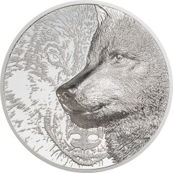 Mongolia 2000 Togrog 2021 - MYSTIC WOLF - 3 oz silver coin