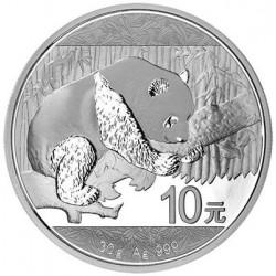 China 10 Yuan 2016 Panda, 30 grams silver coin BU
