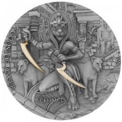 Niue 5 dollars 2021 - SEKHMET Gods of Anger - 2 oz silver coin