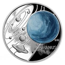 Niue 1 dollar 2021 Solar System URANUS - 1 oz silver coin
