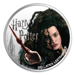 2020 Harry Potter - 7) BELLATRIX LESTRANGE - Fiji 1 dollar 1oz silver coin