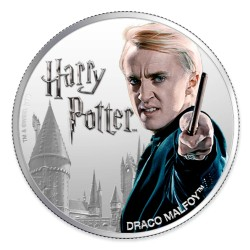 2020 Harry Potter - 8) DRACO MALFOY - Fiji 1 dollar 1 oz silver coin