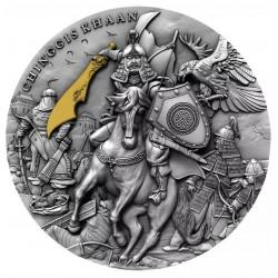 Niue 5 dollars 2020 - CHINGGIS KHAAN - 2 oz silver coin