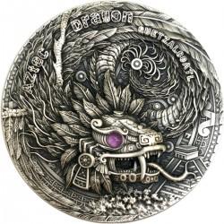 Niue 2 dollars 2020 AZTEC DRAGON Quetzalcoatl - 2 oz silver coin