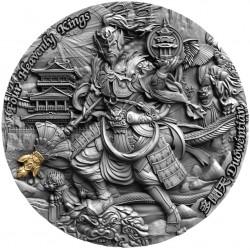 Niue 5 dollars 2020 - DUOWENTIAN Four Heavenly Kings - 2 oz silver coin