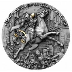 Niue 5 dollars 2020 - BLACK HORSE Four Horsemen Of The Apocalypse - 2 oz silver coin
