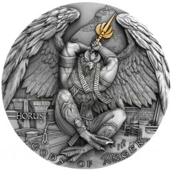 Niue 5 dollars 2020 - HORUS Gods of Anger - 2 oz silver coin