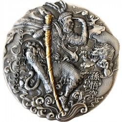 Niue 2 dollars 2020 - SUN WUKONG Journey to the West - 2 oz silver coin