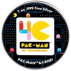 2020 PAC-MAN Arcade Games - Niue 2 dollars 1oz silver coin