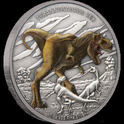 2020 Dinosaurs 1) Tyrannosaurus Rex - Niue 2 dollars 1 oz silver coin