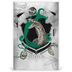2020 Harry Potter Hogwarts House Banners SLYTHERIN - Niue 1 dollar 5g silver coin note