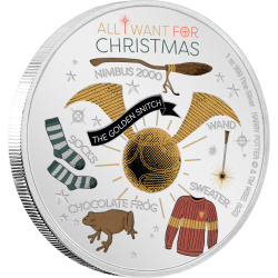2020 Harry Potter Season's Greetings - Niue 2 dollars 1 oz silver coin