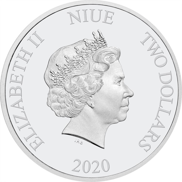 Niue JUSTICE LEAGUE BATMAN 60th Anniversary 2020-1 OZ Silver Proof  Coin