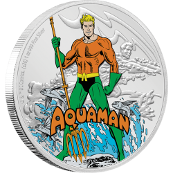 2020 Justice League 60 years AQUAMAN™ - Niue 2 dollars 1 oz silver coin