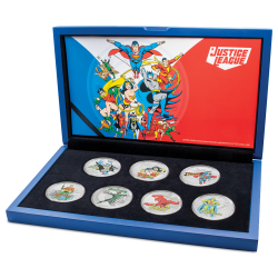 2020 Justice League 60 years Complete coin set™ - 7x Niue 2 dollars 1 oz silver coin