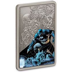 2020 Batman The Caped Crusader 3) BATMAN™ - Niue 2 dollars 1 oz silver poster coin note