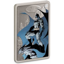 2020 Batman The Caped Crusader 1) GOTHAM CITY™ - Niue 2 dollars 1 oz silver poster coin note