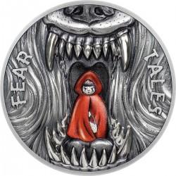 Palau 10 dollars 2019 - LITTLE RED RIDING HOOD Fear Tales - 2 oz silver coin 10$