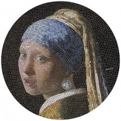 2019 GIRL WITH A PEARL EARRING Vermeer Great Micromosaic Passion - Palau 20 dollars 2019 3 oz silver coin 20$