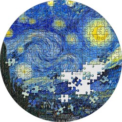 2019 STARRY NIGHT Van Gogh Micropuzzle Treasures - Palau 20 dollars 2019 3 oz silver coin 20$